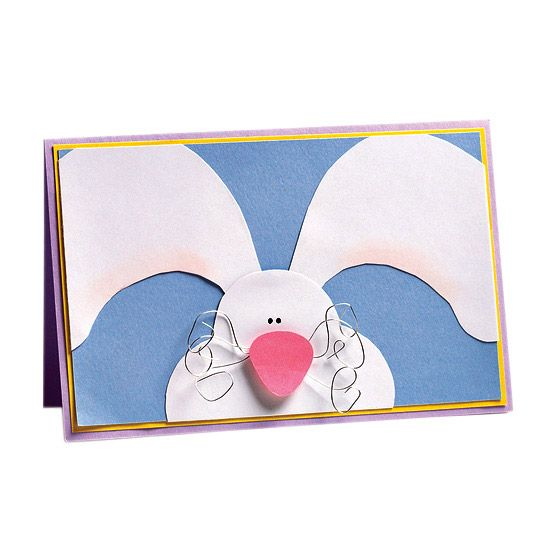 Peeking Bunny Card