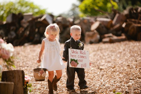 Flower girl & ring bearer: Wedding Ideas, Country Wedding, Ring Bearer Sign, Weddings, Dream Wedding, Flower Girls, Boots
