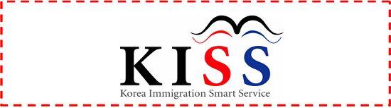 El servicio coreano de inmigración se llama The Korea Immigration Smart Service. Su sigla es KISS (beso) y su logo incluye unos labios