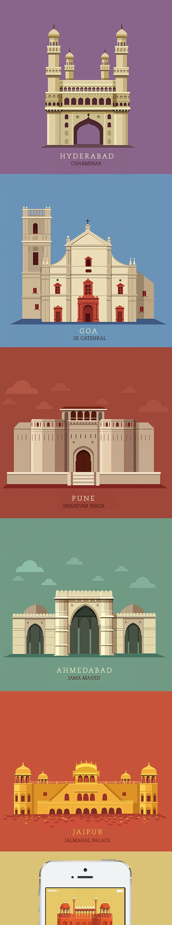 The 10 most popular cities in India illustrated