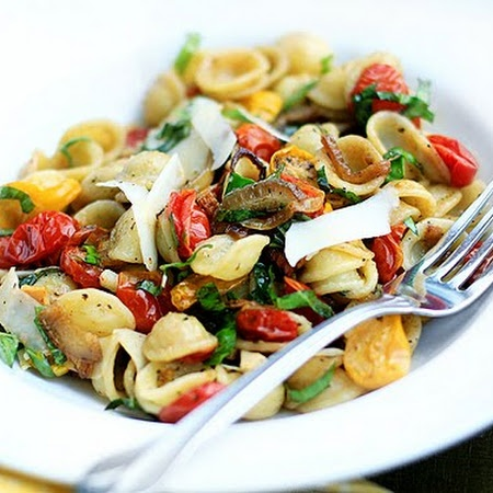 Orecchiette with Slow-Roasted Tomatoes, Basil, and ...