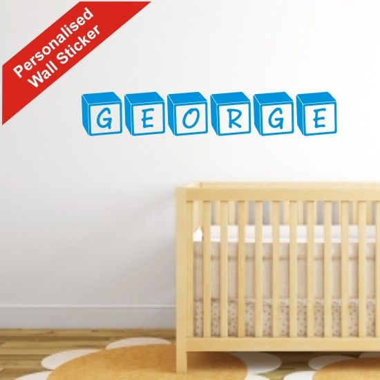 Personalised children's wall stickers £2.50 per letter block