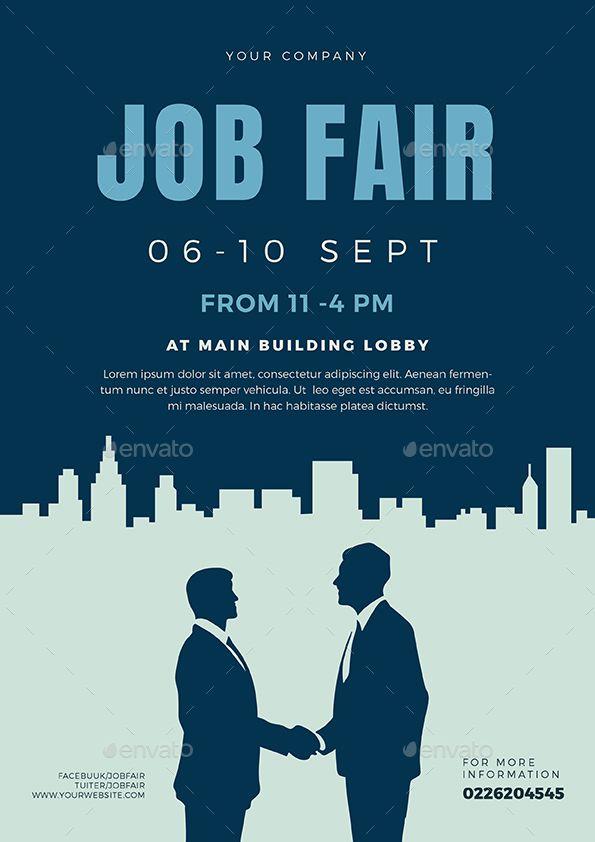 job fair flyer template 02 job hunting pinterest flyer