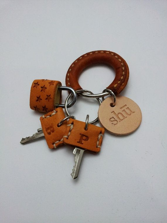 leather stamp on master key - like the idea of a leather cover to distinguish one key from another