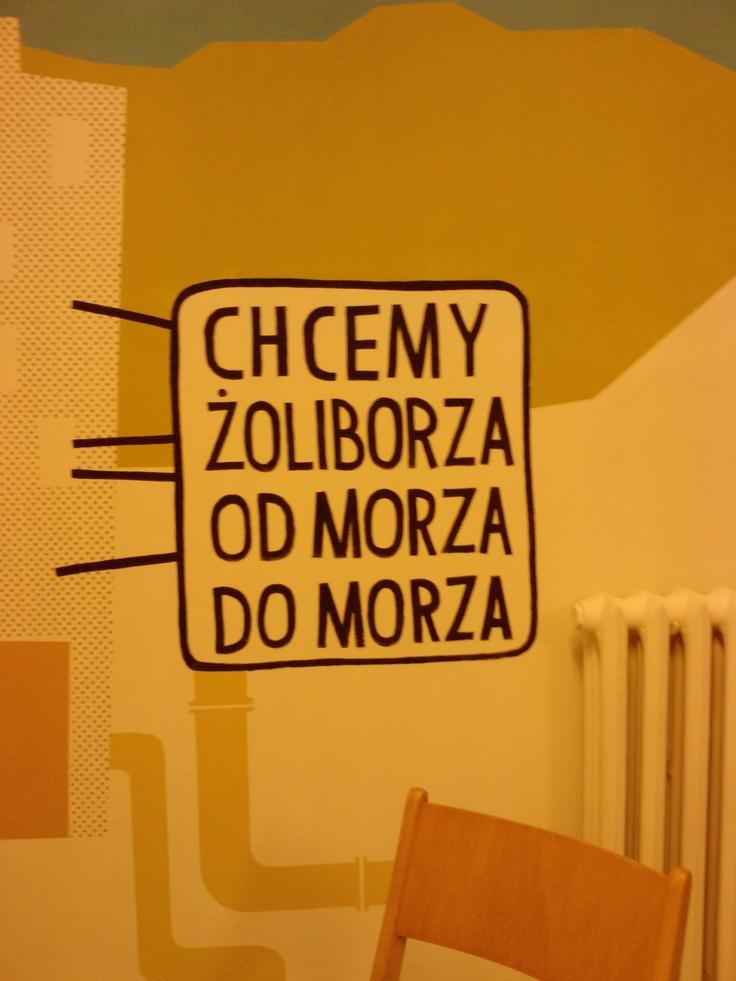 Ze ściany Kawiarni Fawory :)  Dobre :-)