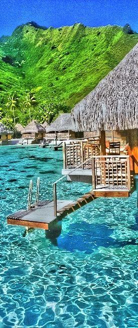 Moorea, French Polynesia. Would be a nice honeymoon spot
