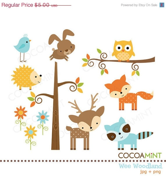 free clip art woodland animals - photo #49