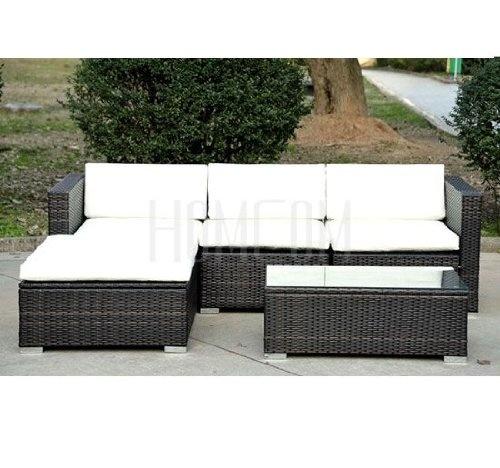 rattan wicker conservatory furniture garden corner sofa outdoor patio furniture set in brown 52293