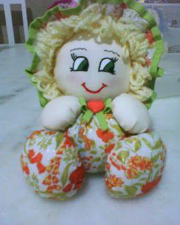 Espaço Criativo: bonecas perfumadas de fuxico