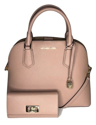 765f0a6e8fab Michael Kors Adele Large Dome Satchel Bundled with Wallet Fawn Leather  Shoulder Bag. Get one of the hottest styles of the season!