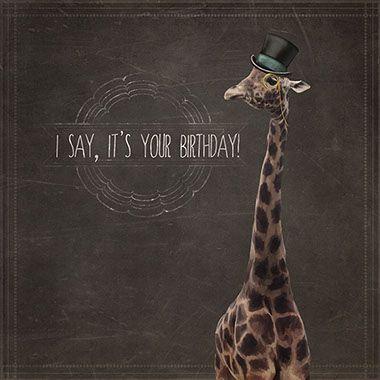 Giraffe Birthday Card by Martha Bowyer | Design & Illustration
