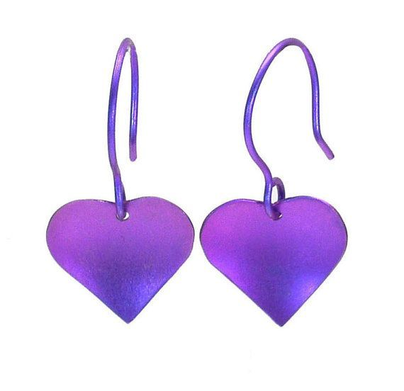 Titanium Dangle Earrings, Heart Earrings, Dangle Earrings, Titanium Earrings, Valentine gift, Gift for her, Giampouras Collections
