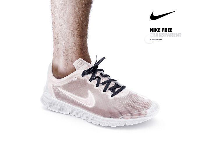 chaussure nike air transparente