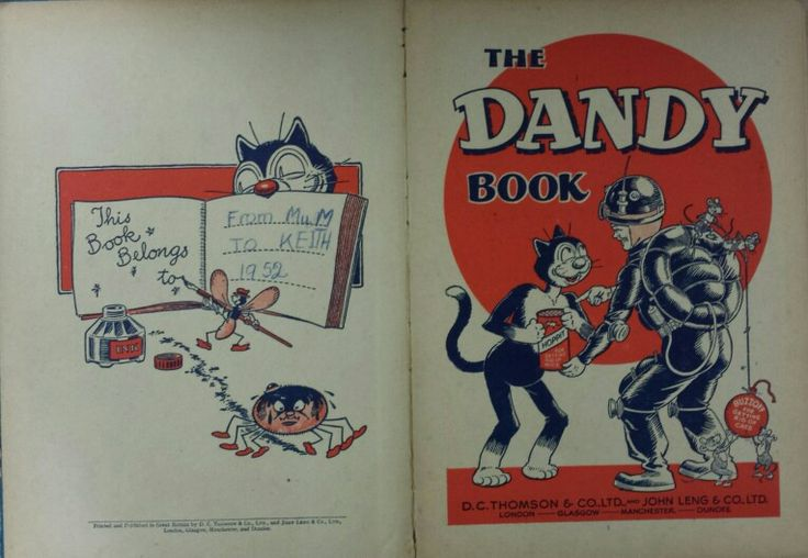 Dandy Book 1953 - Name page and title page