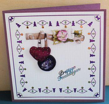 Gemaakt door Henny, Dots Christmas in purple