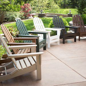 Exclusive! POLYWOOD® Recycled Plastic Classic Curveback Adirondack Chair - Adirondack Chairs at Hayneedle