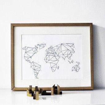 na.hili A3 Print Geometrical World