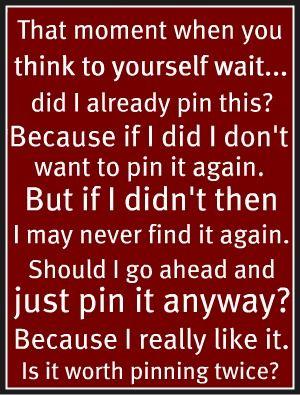 Pinterest stress! :)