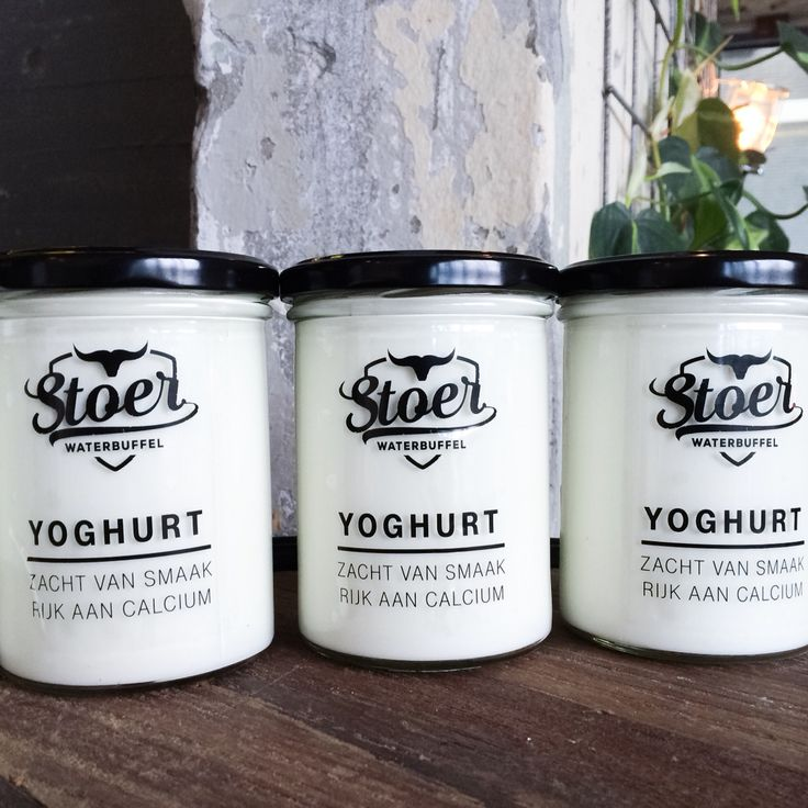 Stoere Yoghurt van De Stoerderij in Son & Breugel. In super vette 400 ml. potten! Yoghurt gemaakt van waterbuffelmelk... Die moet je gewoon even proeven!!  #eatlocal #stoereyoghurt #stoerderij #breakfast #onderdeleidingstraat #strijps