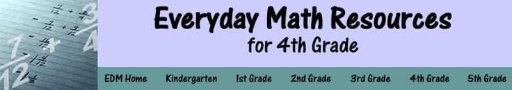 Everyday Math for 4th Grade