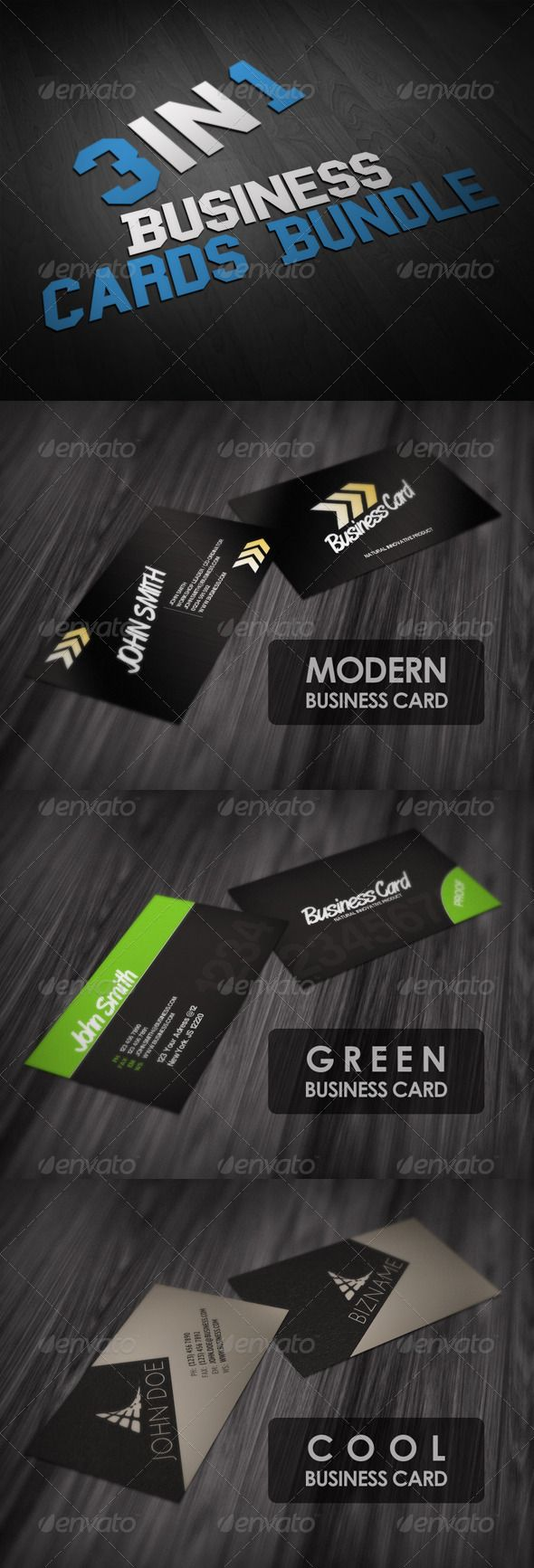 648 best cool business cards images on pinterest fonts arrows business cards bundle 3in1 magicingreecefo Choice Image