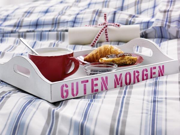 Guten morgen breakfast tray
