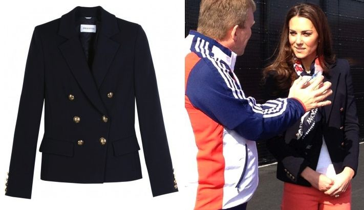 Kate brought back her Pucci blazer, Paralympics Scarf and Corkswoon wedges for the appearance. Some may remember the blazer from Kate's visit with the Team GB Hockey teams back in March.