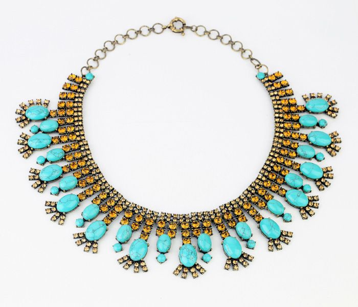Sky Blue Choker Necklace  - New In
