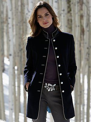 Womens military style fashion jacket