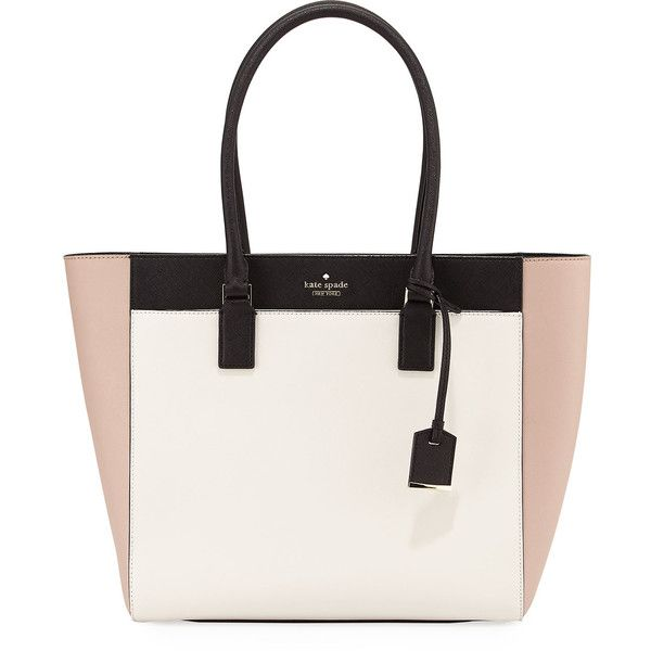 Kate Spade New York cameron street havana colorblock tote bag w/... (17,835 DOP) ❤ liked on Polyvore featuring bags, handbags, tote bags, toasted wheat mul, laptop purse, color block tote, zip tote bag, laptop tote bag and kate spade tote bag