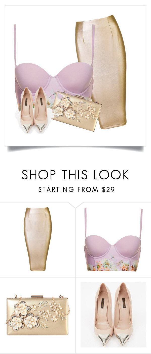 pink and gold by weaver-alyssa on Polyvore featuring Louis Vuitton and Rimen & Co.