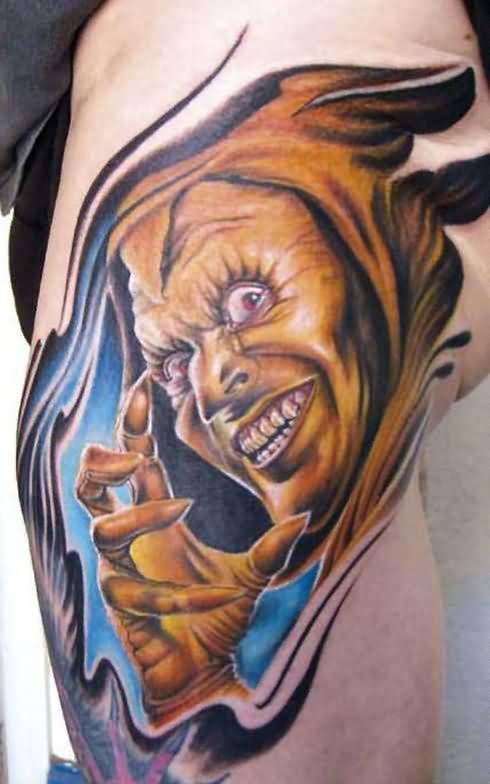 29934cb0d 25 best Demon Tattoo Designs images on Pinterest | Satanic ... Angel vs demon  tattoo on side rib - Tattoos Book - 65.000 .