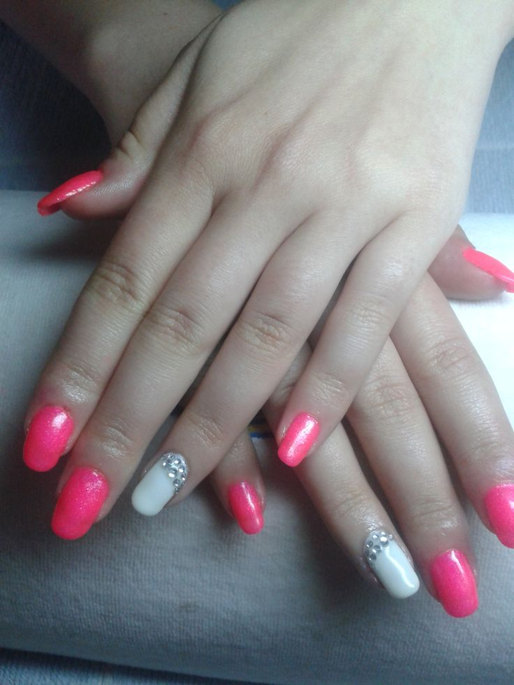 A little summer.  Pink and White.