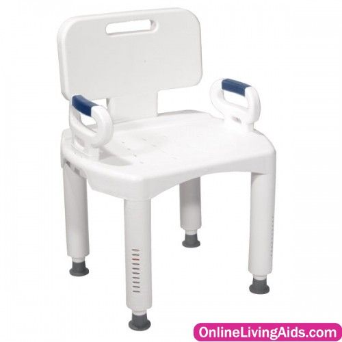 Drive Medical - rtl12505 - Premium Series Shower Chair with Back and Arms