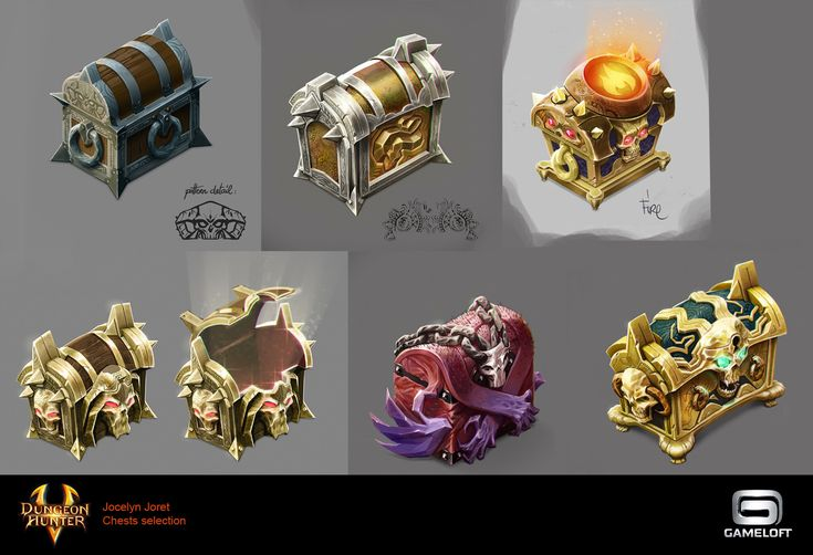 Chests design - Dungeon Hunter 5
