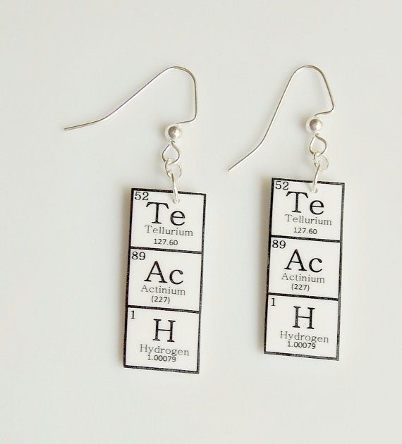 Periodic Table of Elements: Teach Earrings