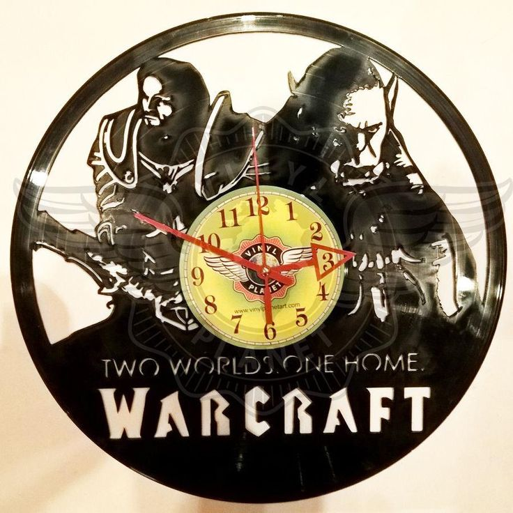 VINYL PLANET Wall Clock WARCRAFT Home Record Unique Decor upcycled 12''