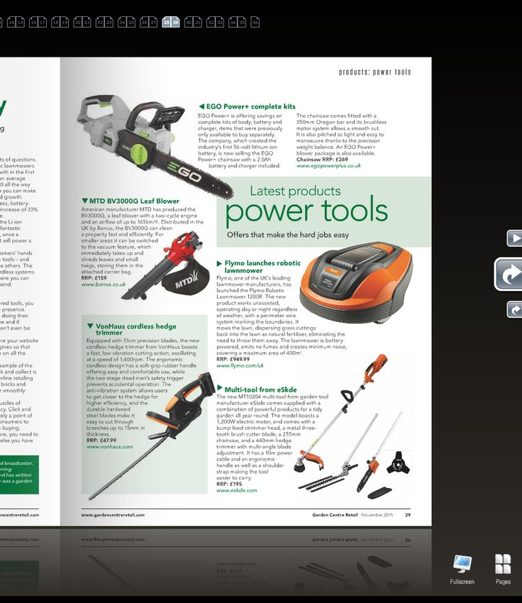 We're so pleased to be appearing in this months edition of Garden Centre Retail magazine - Page 29. The 1200w electric multi tool - see our separate board for full specifications and product listing.