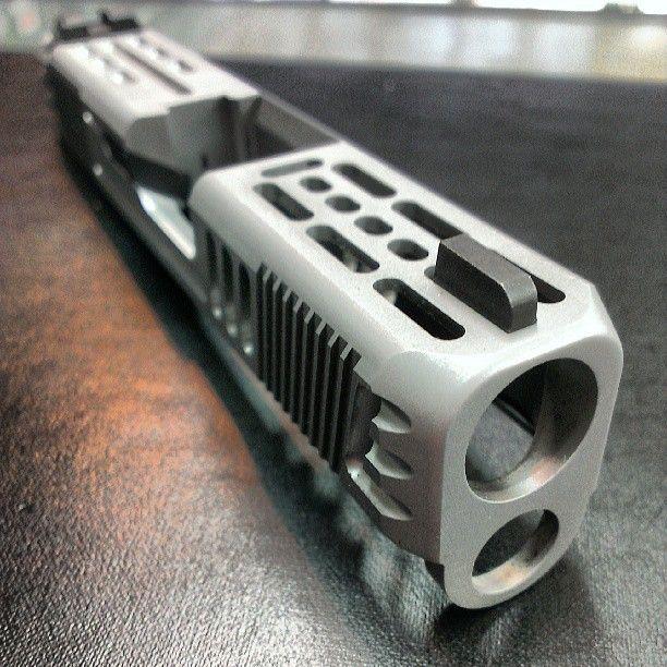 Glock Tact  Pistol  Glock 26 Doe  Glock  Weapons  Custom Glock    Glock 30 Custom Slide