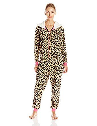 Amazon.com: St. Eve Women's Microfleece Onesie, Leopard, Small: Clothing