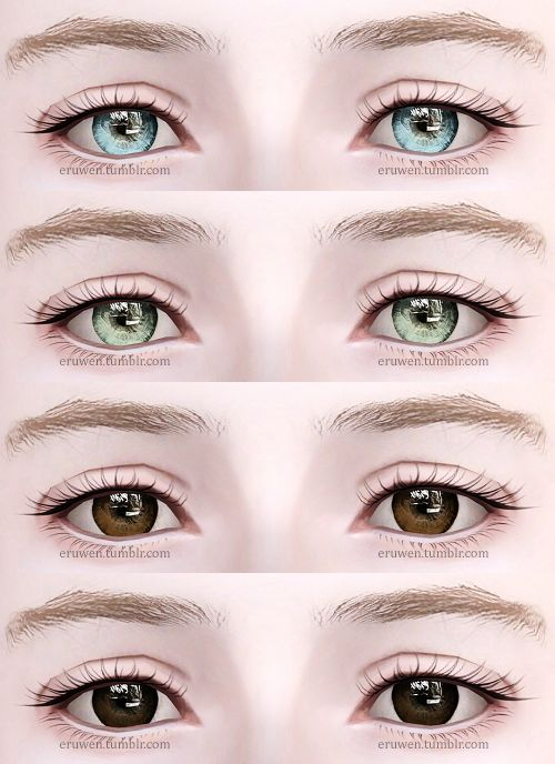 "eruwen: "" Contacts n12! • All ages, both genders • Four channels • File compressed I recommend using these with Awt/sclub's eyeball sliders to control iris and pupil size. Download: box 