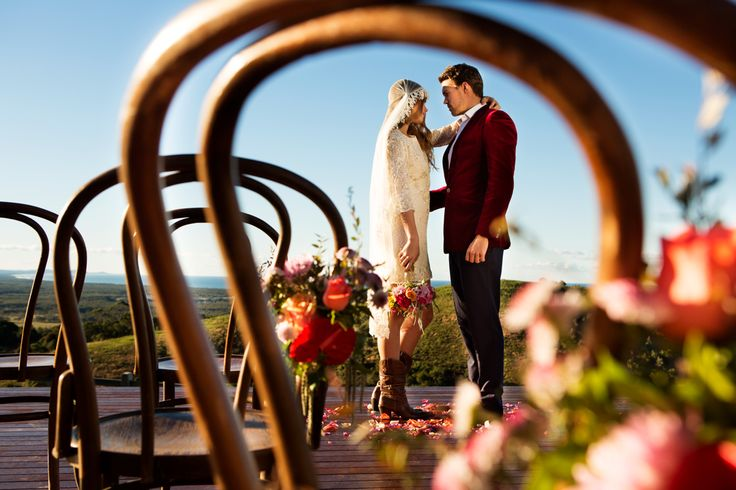 Beautiful wedding shots at Horizon Byron Bay