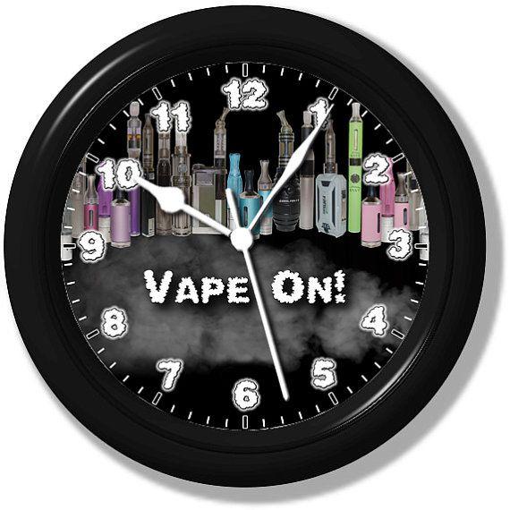 Vape On  Unique Wall Clock  Handmade by ClocksGalore on Etsy