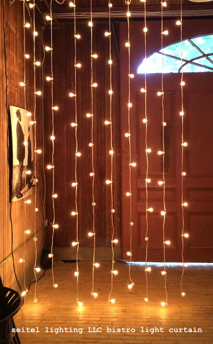 x white light curtain led warm