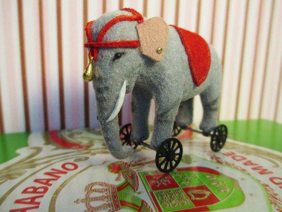 Miniature Elephant RideOn Toy by Weazilla on Etsy