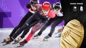 Samuel Girard a ajouté une médaille à la récolte canadienne de samedi soir au Palais des glaces de Gangneung, en remportant...