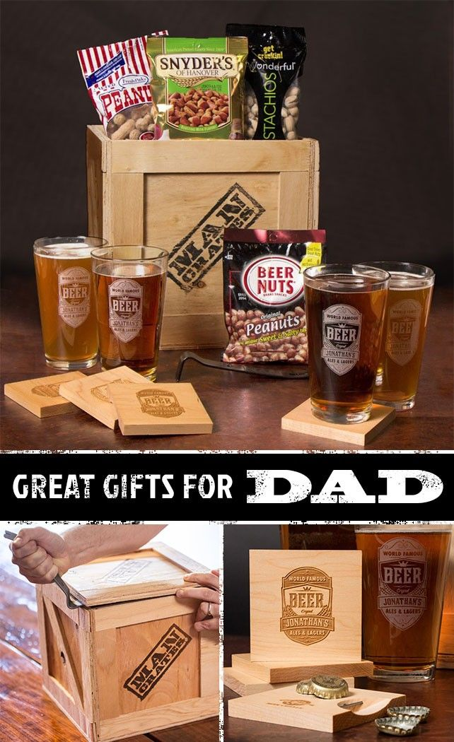 "Dad is going to love the Personalized Barware Crate.  It'll look amazing on the counter of my dad's ""home bar"" especially for Father's Day 