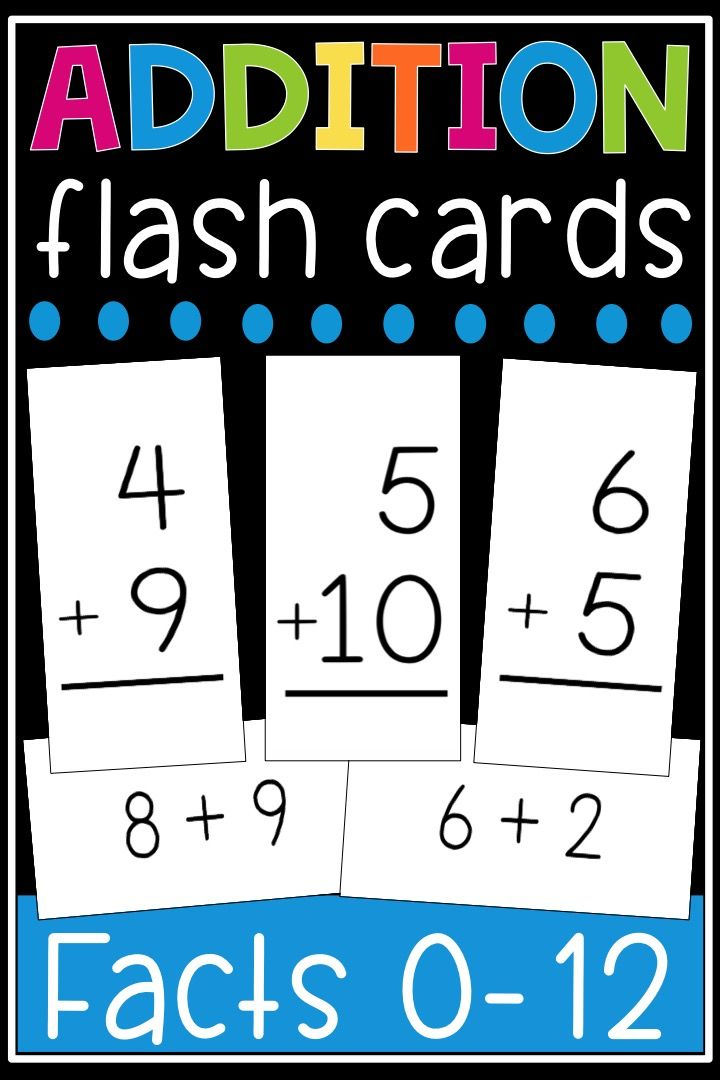 photograph about Printable Addition Flash Cards 0-12 named Addition Flash Playing cards - Math Data 0-12 Flashcards