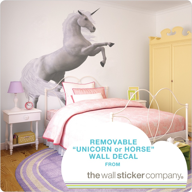 It can be a unicorn or a horse, cool removable wall decal will add magic to a room instantly!