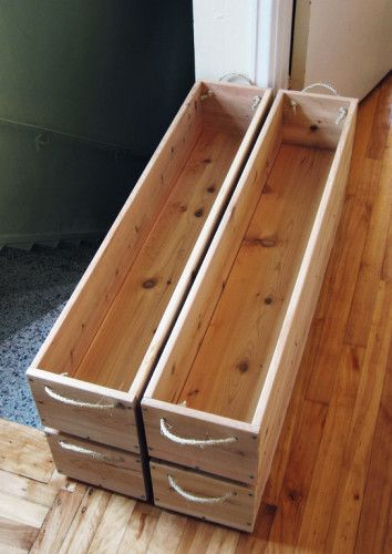Use natural, unfinished wooden planter boxes for #organic #gardening - No harmful chemicals!